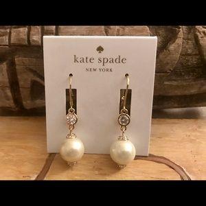 Kate Spade Pearls of Wisdom Crystal Drop Earrings